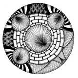 Zendala - mandala di zentangle Fotografia Stock