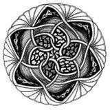 Zendala - mandala di zentangle Fotografia Stock Libera da Diritti