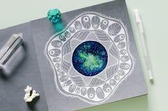 Zendalakunst het schilderen Royalty-vrije Stock Fotografie