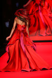 Zendaya walks the runway at the Go Red For Women Red Dress Collection 2015 Stock Photography