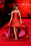 Zendaya walks the runway at the Go Red For Women Red Dress Collection 2015 Stock Image