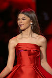 Zendaya walks the runway at the Go Red For Women Red Dress Collection 2015 Stock Photos