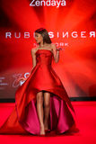Zendaya walks the runway at the Go Red For Women Red Dress Collection 2015 Royalty Free Stock Photography