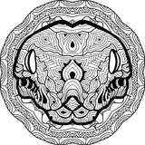 Zendoodle. Coloring page for adults.  Stock Image