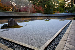 Zenen vaggar trädgården, Kyoto Royaltyfri Fotografi
