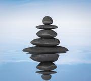 Concepto de la balanza de los ZENES Stone Fotografía de archivo libre de regalías