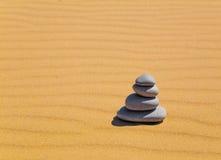 ZENES Stone en desierto Fotografía de archivo libre de regalías