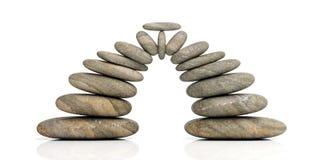 ZENES Stone en el fondo blanco ilustración 3D Imagenes de archivo