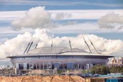 Zenit Arena football modern stadium under construction in St. Pe Royalty Free Stock Photo
