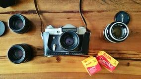 Zenit e, камера фильма Стоковые Фотографии RF