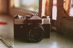 Zenit. Just an old cam i use for portraits Stock Image
