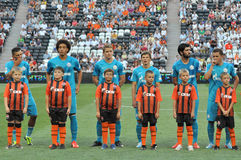 Zenit team with children Stock Image