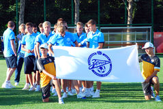 Zenit young football team Stock Photos