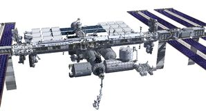 Zenith side of the International Space Station Royalty Free Stock Photo