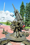 Zenithal gun. Old russian cannon in Brest Fortress, Belarus Stock Photo