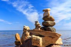 Zenjämvikt av stenar Arkivbilder