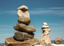 Zenjämvikt av stenar Arkivfoto