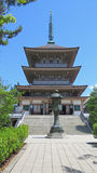 Zenko ji寺庙Pagode在长野 免版税库存照片