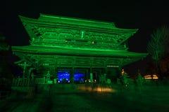 Zenkoji belysning som firar olympics royaltyfria bilder