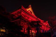 Zenkoji belysning som firar olympics arkivbilder