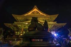 Zenkoji belysning som firar olympics royaltyfri bild