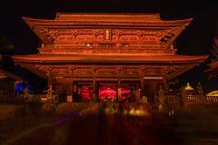 Zenkoji belysning som firar olympics fotografering för bildbyråer