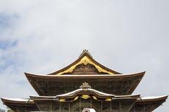 Zenkoji buddistisk tempel Tenshu Royaltyfri Foto