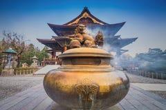 Zenkoji tempel, Nagano, JAPAN Royaltyfri Foto