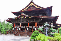 Zenkoji Temple is important in the history of Buddhism in Japan royalty free stock photography