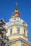 Zenkov大教堂在阿尔玛蒂,哈萨克斯坦 图库摄影