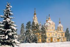 Zenkov大教堂在阿尔玛蒂,哈萨克斯坦 免版税库存图片