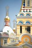 Zenkov大教堂在阿尔玛蒂,哈萨克斯坦 库存照片