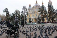 Zenkov Cathedral in Almaty, Kazakhstan Royalty Free Stock Images