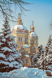 Zenkov Cathedral in Almaty, Kazakhstan. Russian Orthodox cathedral located in Panfilov Park in Almaty, Kazakhstan. Completed in 1907, it is the second tallest Royalty Free Stock Image