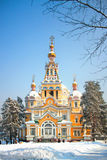 Zenkov Cathedral in Almaty, Kazakhstan Royalty Free Stock Image