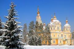 Zenkov Cathedral in Almaty, Kazakhstan Royalty Free Stock Photos