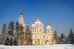 Zenkov Cathedral in Almaty, Kazakhstan Stock Photography