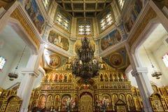 Zenkov Cathedral in Panfilov Park, Almaty, Kazakhstan Stock Photos