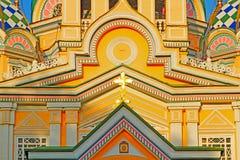 Zenkov domkyrka i Almaty, Kasakhstan Arkivbilder