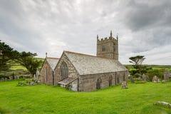 Zennor church in cornwall england Stock Photos