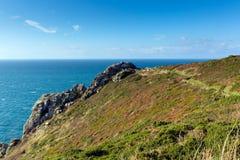 Zennor huvud Cornwall England UK nära St Ives Arkivbilder