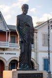 Zeno του αγάλματος Kition, Λάρνακα, Κύπρος στοκ φωτογραφία