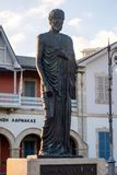 Zeno Kition statua, Larnaka, Cypr fotografia stock