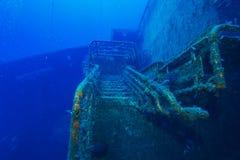 Zenobia在帕福斯,塞浦路斯附近的船击毁 免版税库存图片