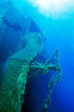 Zenobia Ship Wreck near Paphos, Cyprus Royalty Free Stock Photography