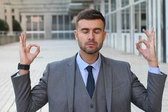 Zenondernemer die een onderbreking nemen royalty-vrije stock afbeeldingen