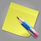 Zensieren Sie und färben Sie Aufkleberanzeigenseite gelb Lizenzfreie Stockfotografie
