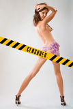 Zensierte sexy junge Frau lizenzfreie stockfotografie