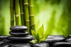 Zensteine und -bambus Lizenzfreies Stockbild