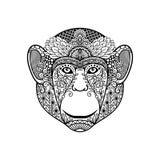 Zentagle małpy głowa royalty ilustracja